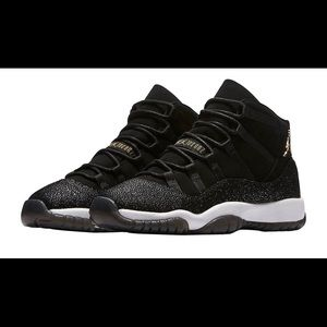 Jordan 11 Retro Heiress Black Stingray Size 5Y